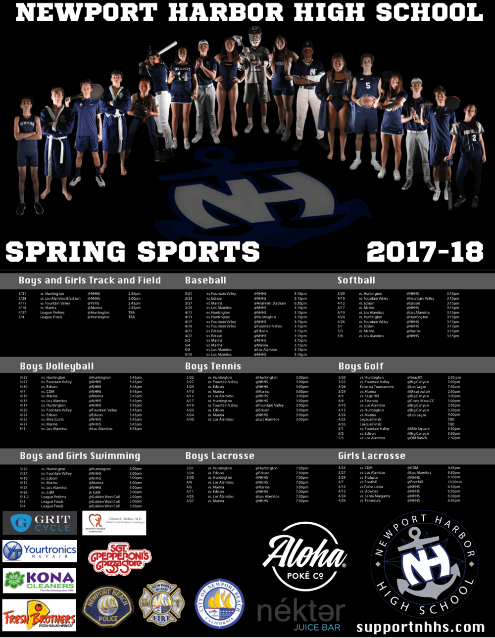 Spring Sports Poster